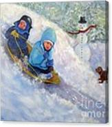 Backyard Winter Olympics Canvas Print