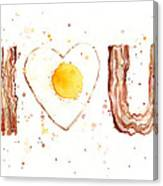 Bacon And Egg I Love You Canvas Print