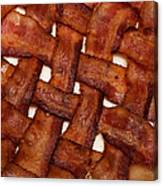 Bacon Weave Square Canvas Print