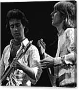 Bad Company At Work In 1977 Canvas Print