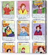 Bad Mom Cards Collect The Whole Set Canvas Print