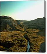 Badlands Coulee Canvas Print
