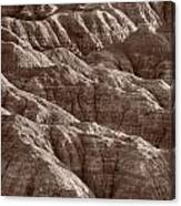 Badlands Light Bw Canvas Print