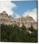 Badlands National Park View Canvas Print