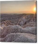 Badlands Overlook Sunset Canvas Print