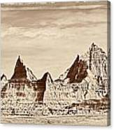 Badlands Plate 1 Canvas Print