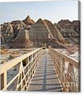 Badlands Walkway Canvas Print