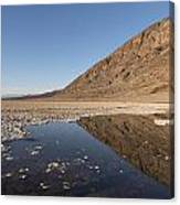 Badwater Basin In Death Valley National Park In Inyo County Canvas Print