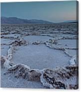 Badwater Salt Flats Canvas Print
