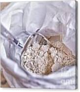 Bag Of Flour With Scoop Canvas Print
