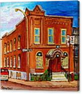 Bagg And Clark Street Synagogue Canvas Print