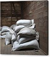 Bags Of Coffee Beans Canvas Print