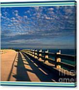 Bahia Honda Bridge In The Florida Keys Canvas Print