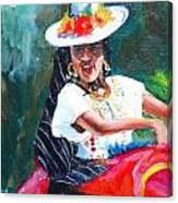 Baile De Michoacan Canvas Print