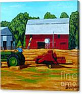 Bailing Hay Canvas Print