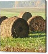 Bails Of Hay Canvas Print