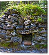 Bake Oven From 1884-5 In  Kicking Horse Campground In Yoho Np-bc Canvas Print