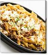 Baked Pasta With Meat And Cheese Canvas Print