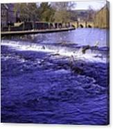 Bakewell Weir Canvas Print