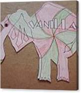 Baking Elephant Vanilla Canvas Print