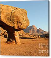 Balanced Rock Below Vermilion Cliffs Canvas Print