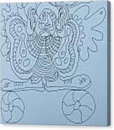 Balancing Clown - Doodle Canvas Print