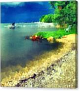 Balaton Lake Shore Canvas Print
