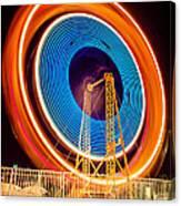 Balboa Fun Zone Ferris Wheel At Night Picture Canvas Print