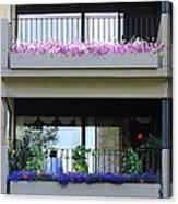 Balconies 4 Canvas Print