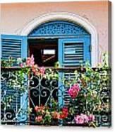 Balcony Blue By Diana Sainz Canvas Print