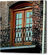 Balcony Doors Canvas Print