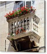 Balcony In Split Croatia Canvas Print