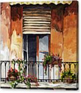 Balcony Of Ancona Canvas Print