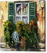 Balcony Of Napoly Canvas Print