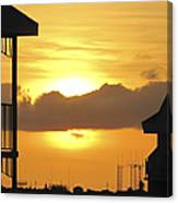 Key West Balcony Sunset Canvas Print