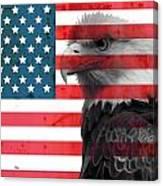Bald Eagle American Flag Canvas Print