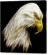 Bald Eagle Fractal Canvas Print