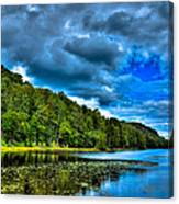 Bald Mountain Pond In Summer Canvas Print
