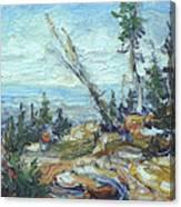 Bald Mountain Vista Canvas Print