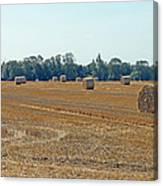 Bales Of Hay Canvas Print