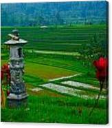 Bali And 2 Red Flowers Canvas Print
