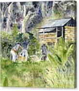 Bali Farmer Canvas Print
