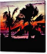 Bali Sunset Polaroid Transfer  Canvas Print