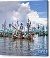 Balinese Fishing Boats Canvas Print