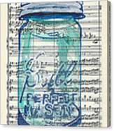Ball Jar Classical  #132 Canvas Print