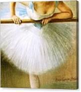 Ballerina At The Bar Canvas Print