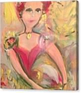 Ballerina For Christmas Canvas Print