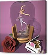 Ballerina In A Bottle - Heaven Canvas Print
