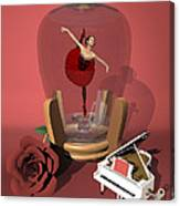 Ballerina In A Bottle - Kiko Canvas Print