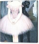 Ballerina In Preparation Canvas Print